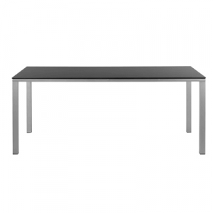 Table rectangulaire mystral c ramique noir versus sabz for Table exterieur ceramique